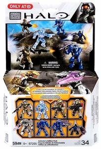 Halo Mega Bloks Exclusive Set #97205 Collector's Edition 8-Pack [UNSC Spartan Mark V, Hazop, Grenadier, Covenant Elite General, Commando & Grunt]