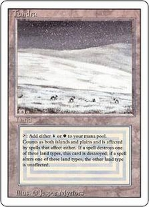 Magic the Gathering Revised Edition Single Card Rare Tundra