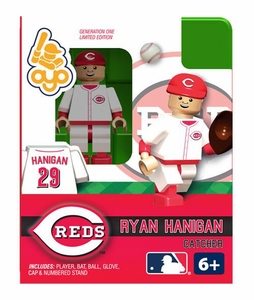 OYO Baseball MLB Building Brick Minifigure Ryan Hanigan [Cincinnati Reds]