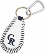 Colorado Rockies Official Major League Baseball GameWear Leather Seam Keychain
