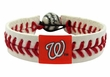 Washingotn Nationals Official Major League Baseball GameWear Leather Seam Bracelet