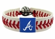 Atlanta Braves Official Major League Baseball GameWear Leather Seam Bracelet