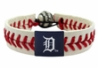 Detroit Tigers Official Major League Baseball GameWear Leather Seam Bracelet