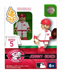 OYO Baseball MLB Building Brick Minifigure Johnny Bench [Cincinnati Reds Hall of Fame]
