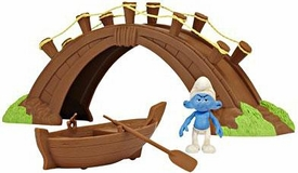 The Smurfs Movie Playset Movie Moment Adventure Pack Smurf Village Bridge and Boat