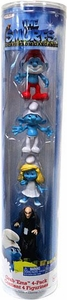 The Smurfs Movie Grab 'Ems Exclusive Mini Figure 4-Pack Papa Smurf, Clumsy, Smurfette & Gargamel