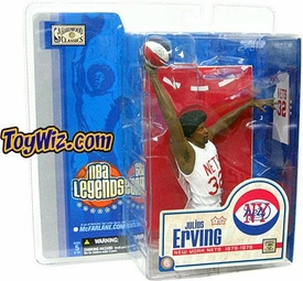 McFarlane Toys NBA Sports Picks Legends Series 1 Action Figure Julius Erving (New York Nets) White Jersey Variant