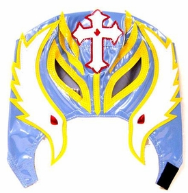 Official Rey Mysterio Kids YOUTH Replica Mask Light Blue & Yellow