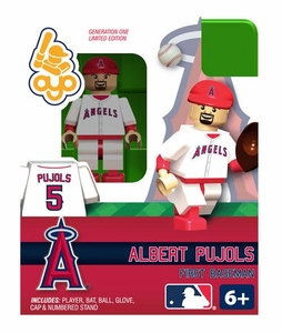 OYO Baseball MLB Building Brick 2011 World Series Minifigure Albert Pujols [St. Louis Cardinals]
