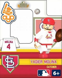 OYO Baseball MLB Building Brick 2011 World Series Minifigure Yadier Molina [St. Louis Cardinals]