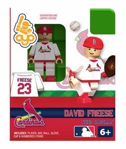 OYO Baseball MLB Building Brick Minifigure David Freese [St. Louis Cardinals]