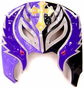 Official Rey Mysterio Kids YOUTH Replica Half Mask Purple & Gray