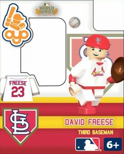 OYO Baseball MLB Building Brick 2011 World Series Minifigure David Freese [St. Louis Cardinals]