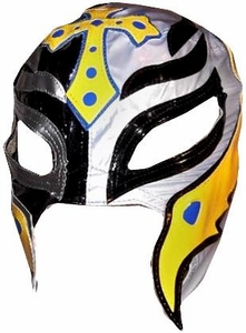 WWE Wrestling Replica Mask Rey Mysterio [Black, Silver & Yellow]