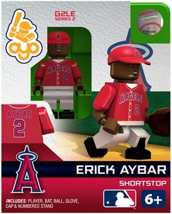 OYO Baseball MLB Generation 2 Building Brick Minifigure Erick Aybar [Los Angeles Angels]