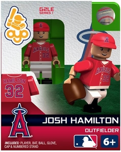 OYO Baseball MLB Generation 2 Building Brick Minifigure Josh Hamilton [Los Angeles Angels]