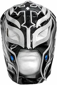 Official WWE Wrestling Replica Mask Rey Mysterio [Black & Silver]