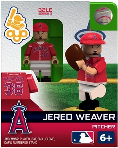 OYO Baseball MLB Generation 2 Building Brick Minifigure Jered Weaver [Los Angeles Angels]