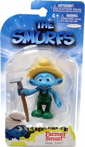 The Smurfs Movie Grab 'Ems Mini Figure Farmer Smurf