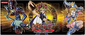 YuGiOh Card Supplies Gold Play Mat #1 [Dark Magician, Yugi & Dark Magician Girl]