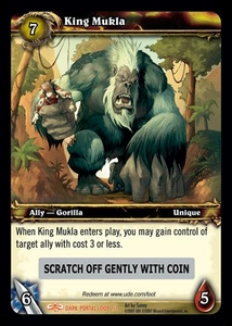 World of Warcraft Card Game Dark Portal Single Card Legendary Loot #2 King Mukla