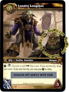 World of Warcraft Heroes of Azeroth Unscratched Loot Card  #1 Landro Longshot