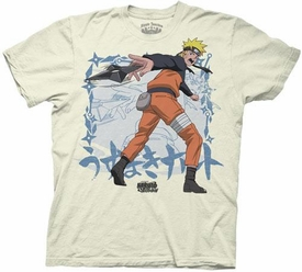 Naruto Shippuden Adult T-Shirt Throwing Star