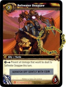 World of Warcraft Heroes of Azeroth Unscratched Loot Card #3 Saltwater Snapjaw