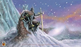Nested Egg Card Supplies Play Mat The Dark Lord of the Frozen Isle