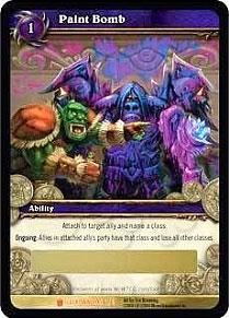 World of Warcraft Card Game Icecrown Single Card Legendary Loot #1 Paint Bomb