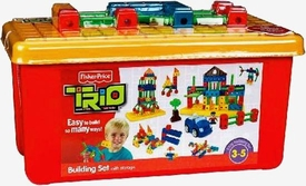 TRIO Building System Playset Building Set with Storage