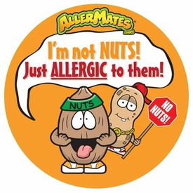 Peanut/Tree Nut Allergy Alert Stickers 24 Pack