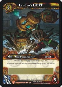 World of Warcraft Card Game WorldBreaker Single Card Legendary Loot #1 Landro's Lil' XT