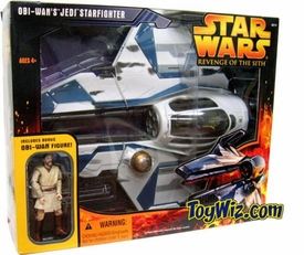 Star Wars E3 Revenge of the Sith Vehicle Exclusive Obi-Wan's Utapau Jedi Starfighter With Figure Very Hard to Find!