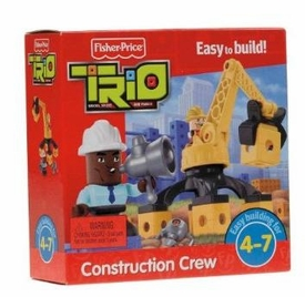 TRIO Building System Playset Figures Construction Crew