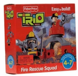 TRIO Building System Playset Figures Fire Rescue Squad