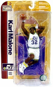 McFarlane Toys NBA Sports Picks Legends Series 5 Action Figure Karl Malone (Utah Jazz) White Jersey Variant