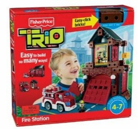 TRIO Building System Playset Figures Fire Station