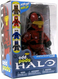 Halo 3 McFarlane Toys Odd Pods Series 2 Stylized Figure Spartan CQB [Red]