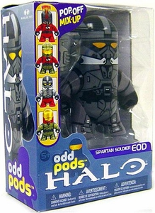 Halo 3 McFarlane Toys Odd Pods Series 1 Stylized Figure Steel Spartan EOD [Assault Rifle] COLLECTOR'S CHOICE!