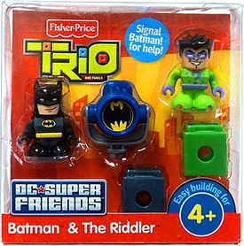 TRIO Building System DC Super Friends Figure 2-Pack Batman & The Riddler
