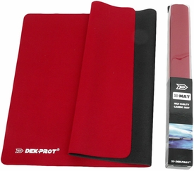 Dek Prot Card Supplies D-Mat High Quality Gaming Mat Red Playmat