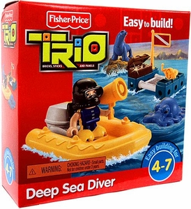 TRIO Building System Playset Figures Deep Sea Diver