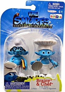 The Smurfs Movie Grab 'Ems Exclusive Mini Figure 2-Pack Brainy & Chef