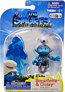 The Smurfs Movie Grab 'Ems Exclusive Mini Figure 2-Pack Translucent Smurfette & Gutsy