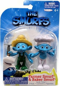 The Smurfs Movie Grab 'Ems Mini Figure 2-Pack Farmer & Baker