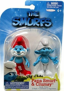 The Smurfs Movie Grab 'Ems Mini Figure 2-Pack Papa & Clumsy