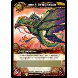 World of Warcraft Card Game Twilight of the Dragon Single Card Legendary Loot #3 Amani Dragonhawk