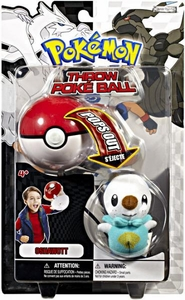 Pokemon Black & White Toy Plush Series 1 Throw Poke Ball Oshawott