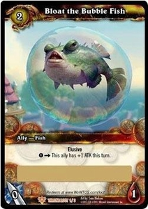 World of Warcraft Card Game Throne of the Tides Single Card Legendary Loot #1 Bloat the Bubble Fish